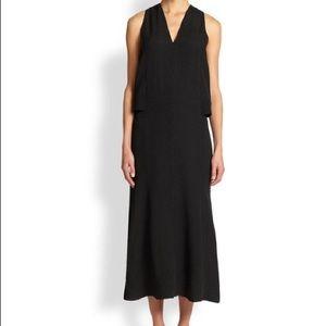 Helmut Lang Black Silk Textured Cocktail Dress